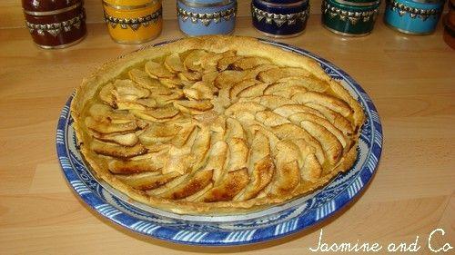 Tarte maison aux pommes poudre d amandes compote - Tarte aux pommes compote maison ...