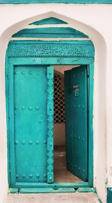 porte turquoise