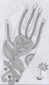 modèle dessin henna