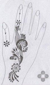 modèle motif henné 1