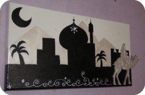 tableau oriental boutique chameau