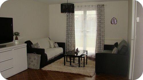 salon noir et gris salon gris et noir d angle los angeles meubles - Salon Noir Blanc Violet