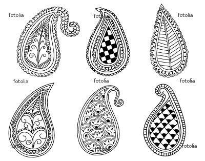 10 mod les de motifs paisley jasmine and co diy et tuto de d coration orientale marocaine - Dessin henne main facile ...