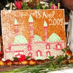 gateau oriental mosquée mariage