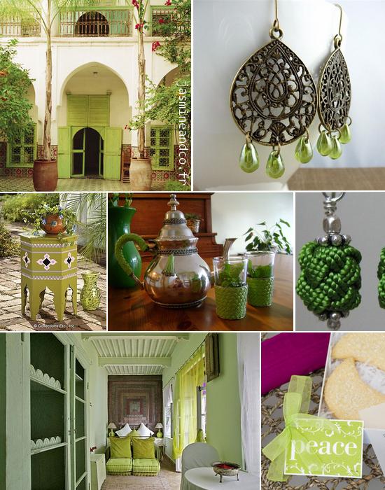 Inspiration #2  décoration orientale verte  Jasmine and Co
