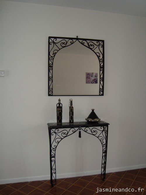 Awesome miroir fer forge marocain 12 cadre miroir for Miroir fer forge ikea