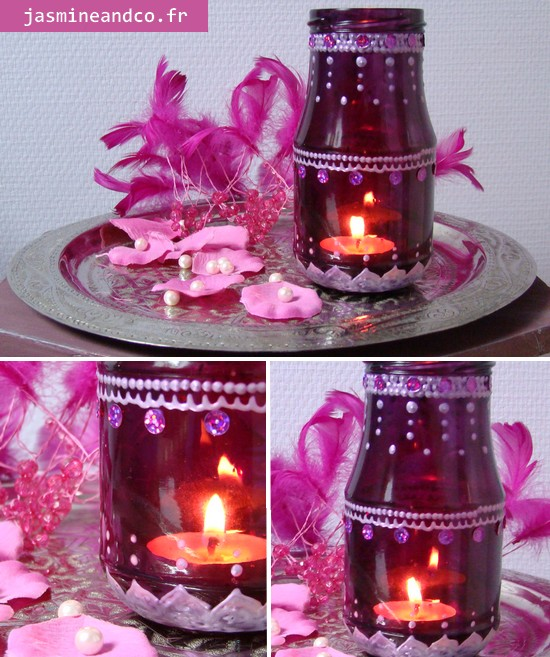 Photophore marocain customisation d 39 un bocal en verre jasmine and co - Photophore fait maison ...