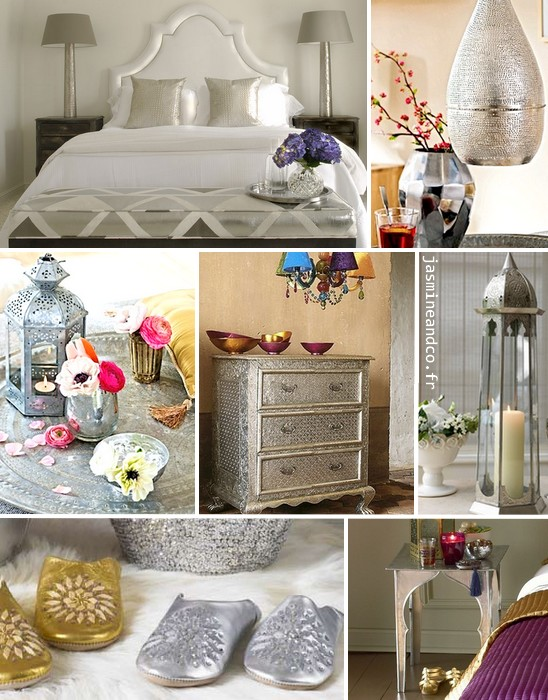 d coration marocaine de la couleur et de l 39 argent jasmine and co. Black Bedroom Furniture Sets. Home Design Ideas