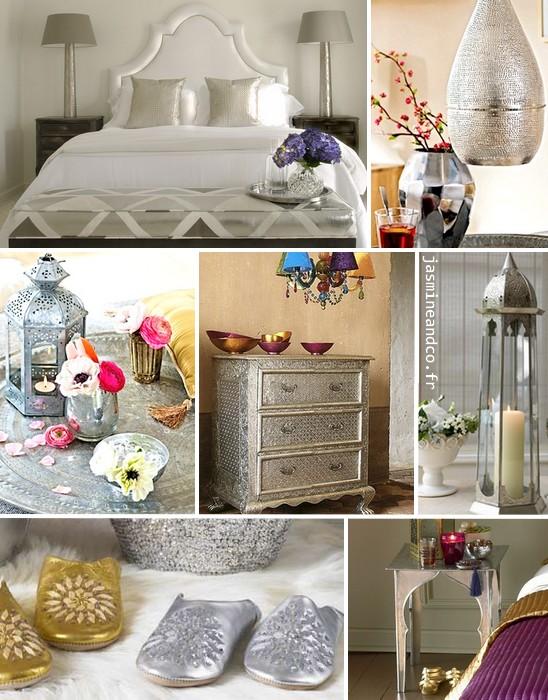 D coration marocaine de la couleur et de l 39 argent jasmine and co for Decoration chambre de nuit marocain