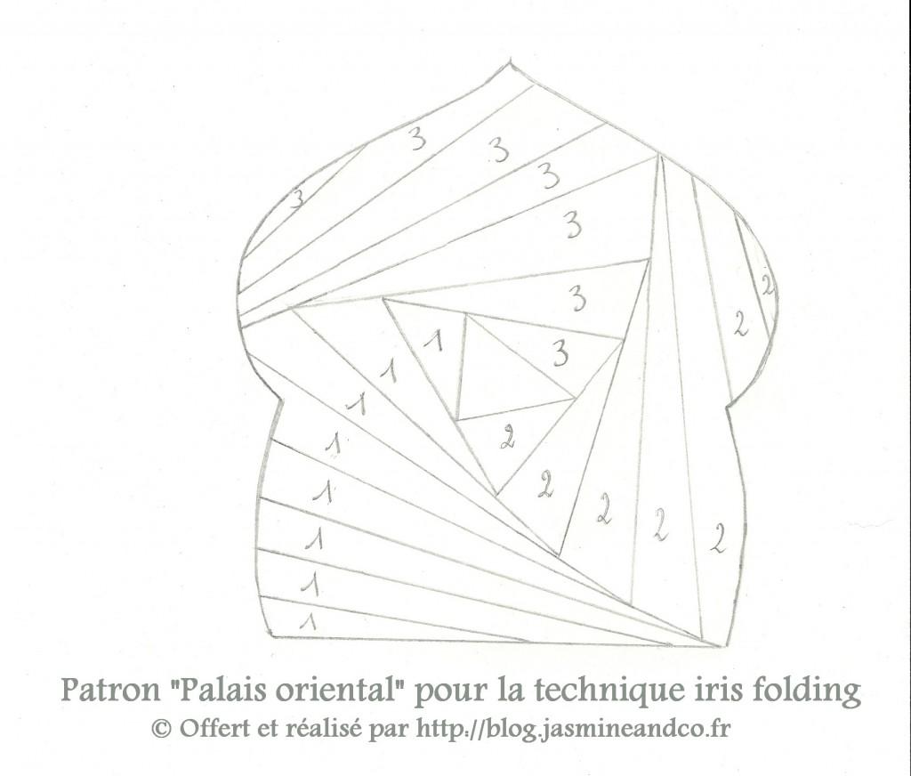 Iris folding le palais oriental vid o jasmine and co diy et tuto de d coration orientale - Motif oriental a imprimer ...