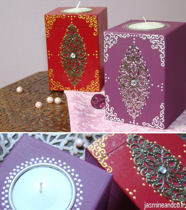 diy bougie orientale avec estampe jasmine and co diy et tuto de d coration orientale marocaine. Black Bedroom Furniture Sets. Home Design Ideas