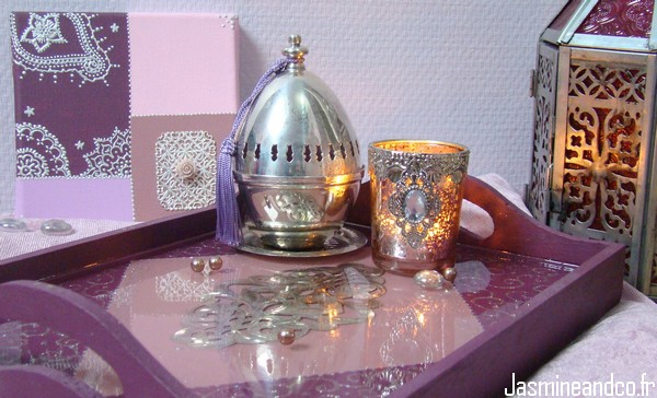Diy Un Plateau Oriental Avec Rsine Pbo Transparente  Jasmine And Co