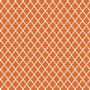 motif marocain orange