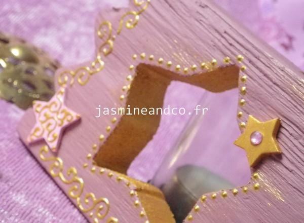 décoration étoile rose