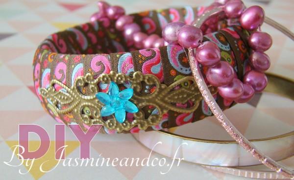 DIY : Bracelet en bois et ruban paisley