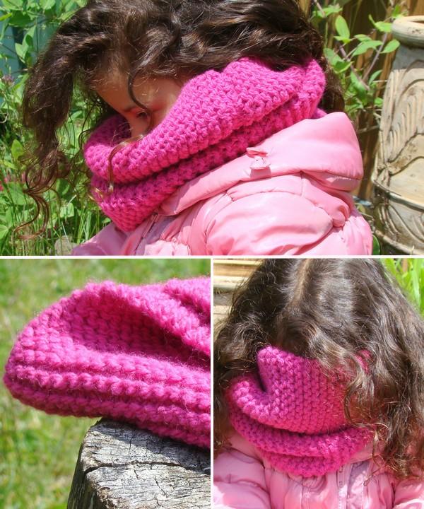 snood laine fuchsia