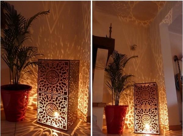 lampe calligraphie orientale