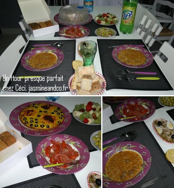 table de ftour ramadan
