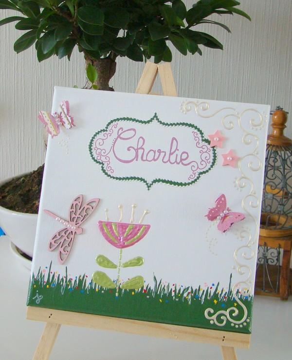 tableau enfant printemps