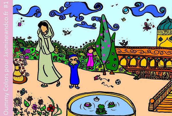 coloriage muslim gratuit