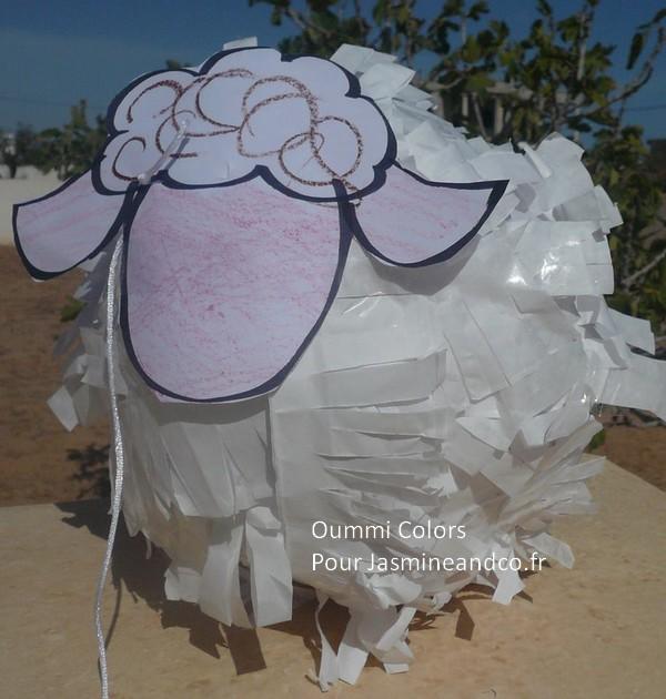 pinata en forme de mouton diy