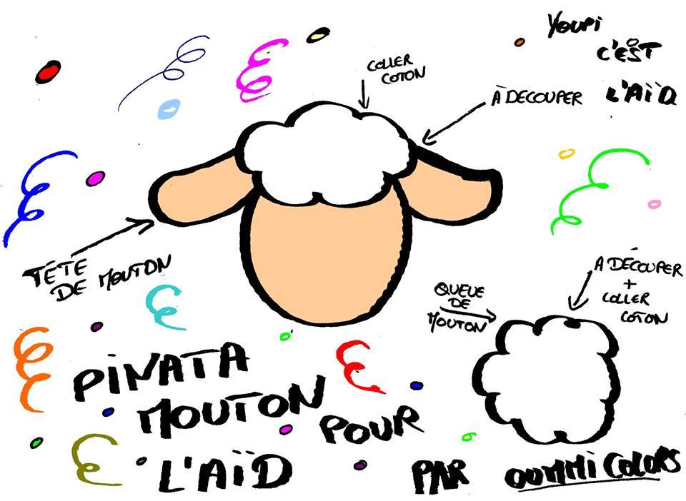 pinata mouton