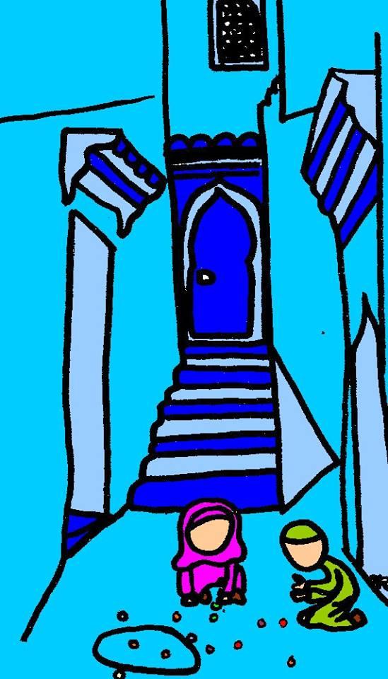 Coloriage enfant maroc