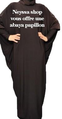 abaya papillon