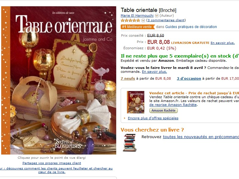table orientale j