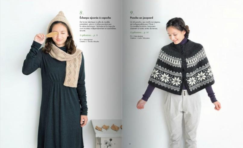 livre cape snood tricot