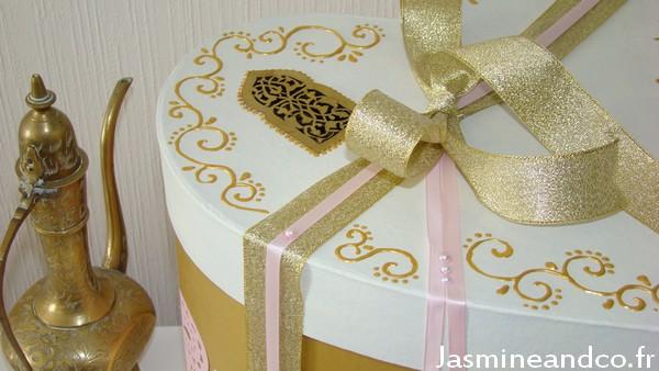 mariage oriental or et blanc jasmine and co diy et tuto de d coration orientale marocaine. Black Bedroom Furniture Sets. Home Design Ideas