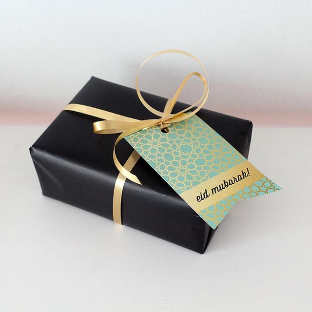 Etiquette cadeau pour Eid