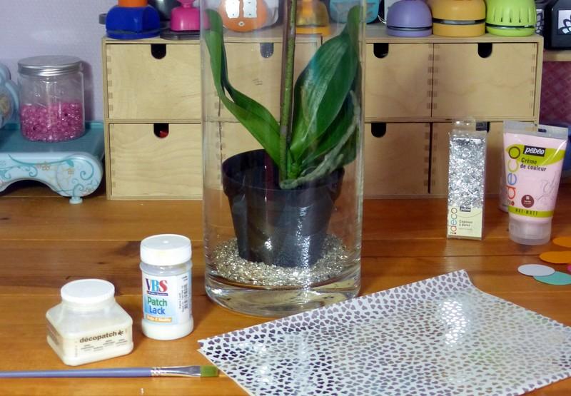 décorer un vase en verre