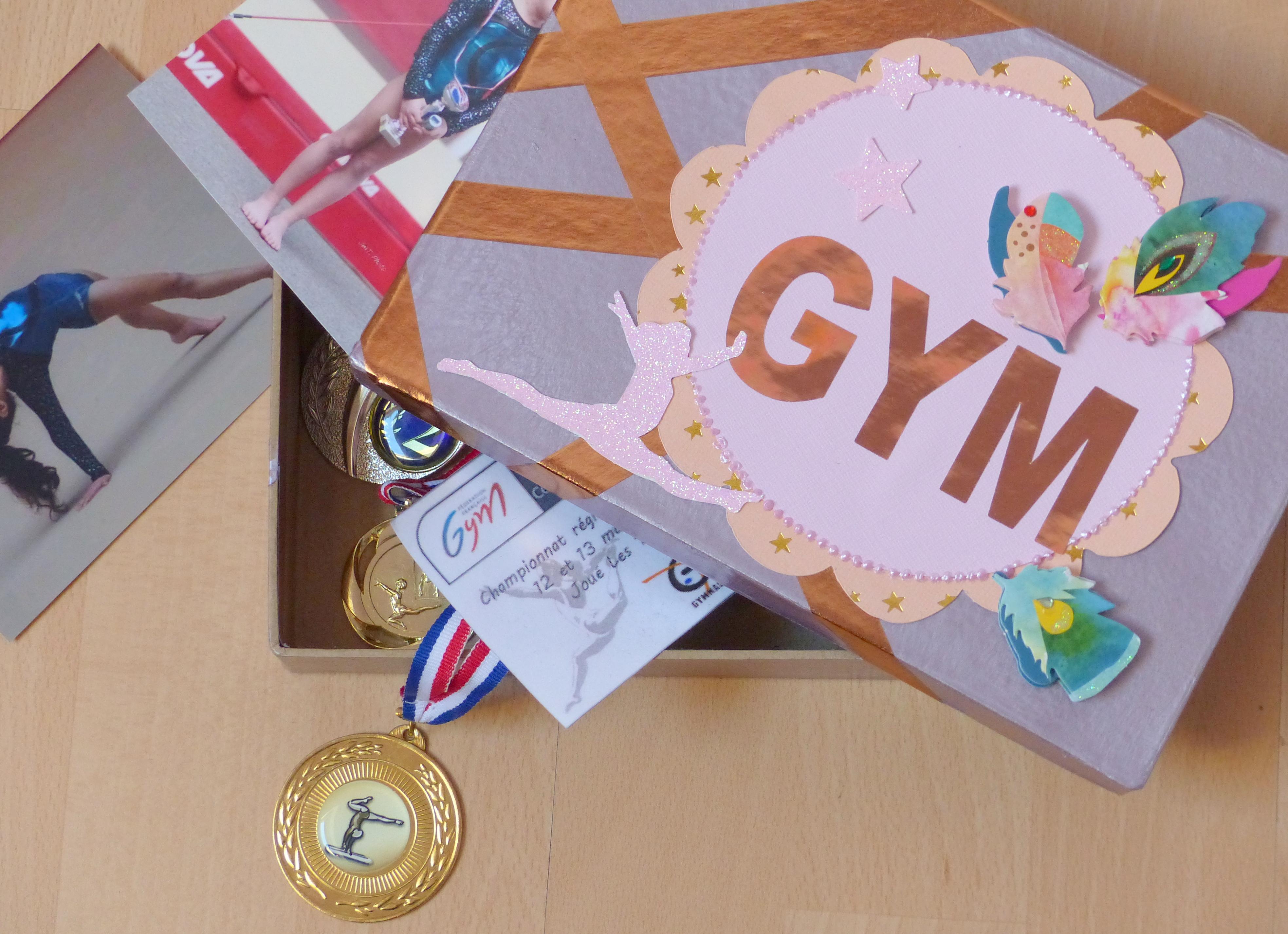 faire une boite à médailles gym