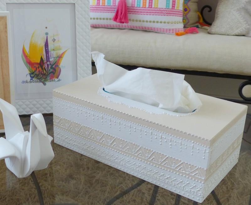 faire une boite mouchoirs ethnique chic jasmine and co diy et tuto de d coration. Black Bedroom Furniture Sets. Home Design Ideas