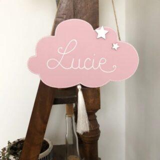 La petite plaque de porte de Lucie 😘